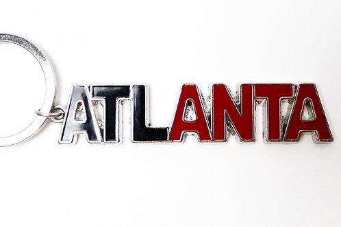 Atlanta Black & Red Keychain
