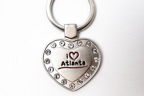 Heart Bling Steel Keychain