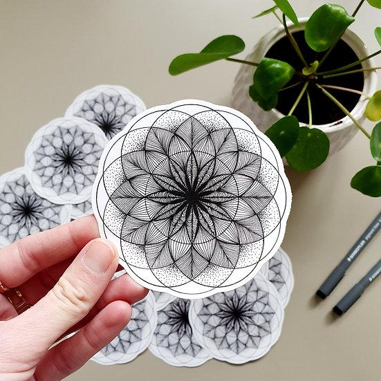 Vinyl sticker 10cm - Transformation geometry