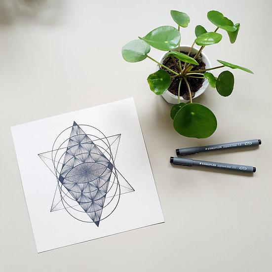 (He)ArtPrint - The 9th gate - geometry