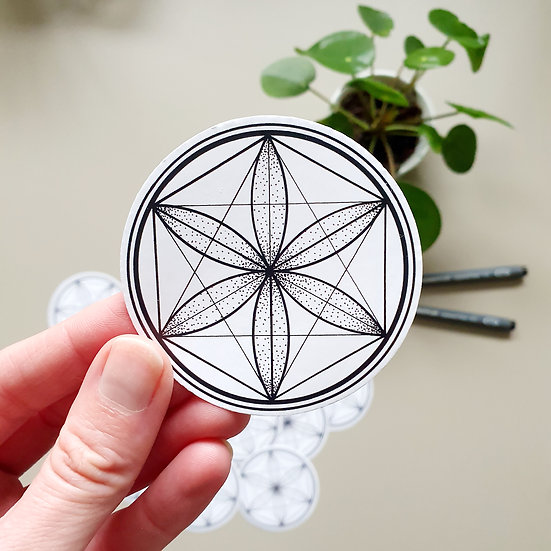 Vegan ECO sticker 6.9cm  - Seed of life
