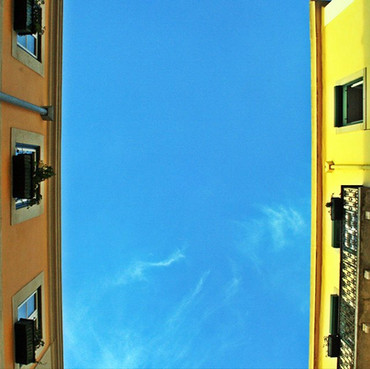 Blue sky from our street