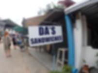 サンドイッチ タオ島グルメ レストラン バンズダイビングコタオ