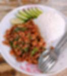 ガパオライス タオ島グルメ レストラン バンズダイビングコタオ