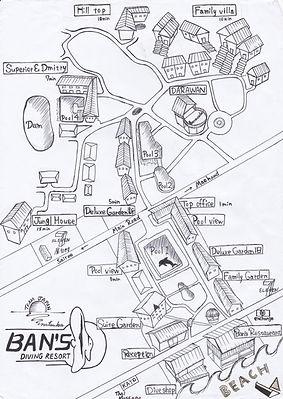 リゾートマップ タイ タオ島 バンズダイビング