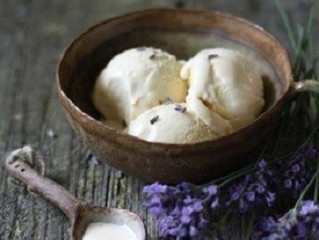Coconut Lavender Ice Cream (Vegan)