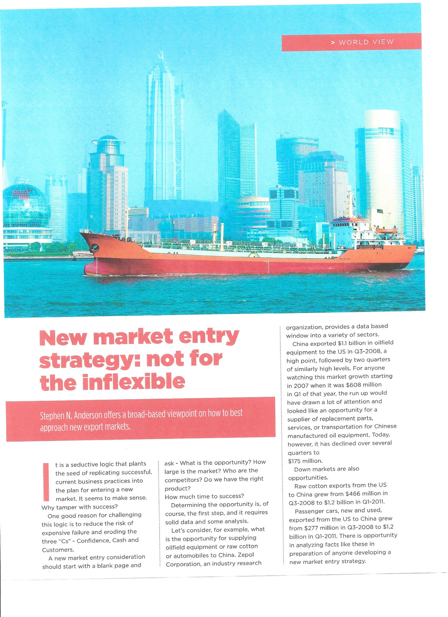 New Market Entry Strategy Not For The Inflexible