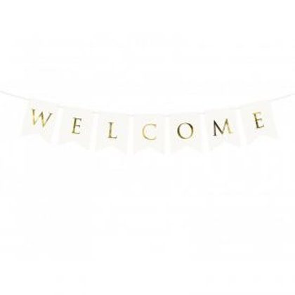 BANNER WELCOME BIANCO
