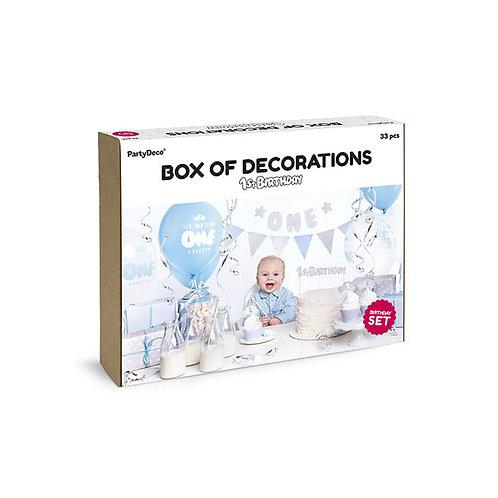 BOX DECORAZIONI ONE CELESTE