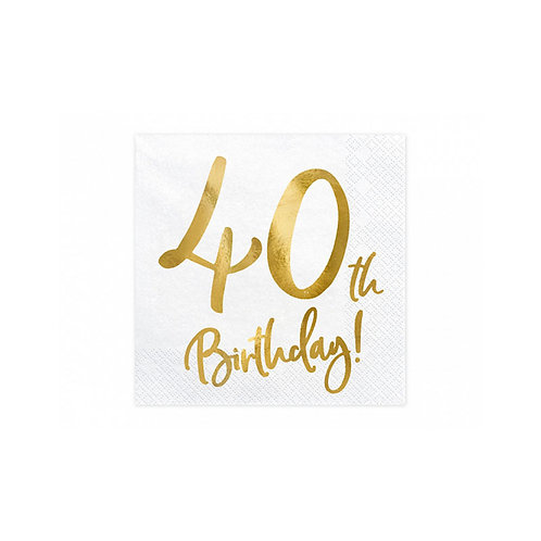 TOVAGLIOLI  40 TH BIRTHDAY