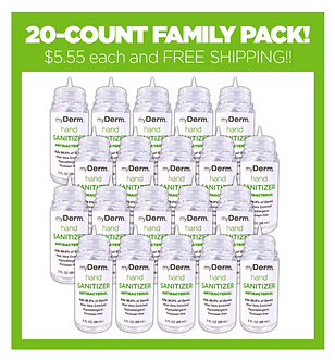 myDerm 3oz. Hand Sanitizer FAMILY PACK - 10%OFF and FREE SHIPPING!!