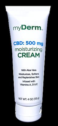 myDerm 4oz. 500 mg CBD Moisturizing Cream