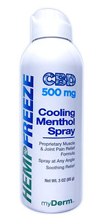 500 mg HEMPFREEZE Cooling Pain Relief Spray