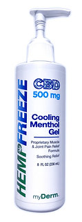 500 mg HEMPFREEZE 8oz Cooling Menthol Gel