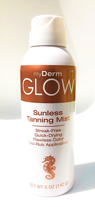 myDerm GLOW Sunless Tanning Streak-free Continuous Mist
