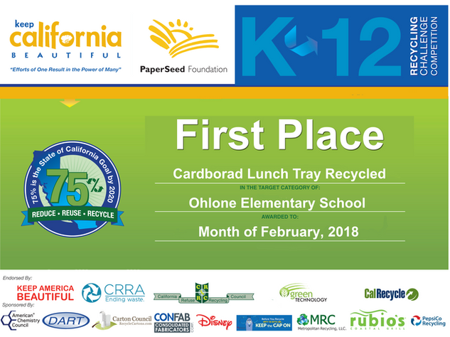 Lunch Tray Recycled 2018-1st