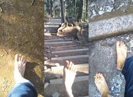 裸足 de 山登り