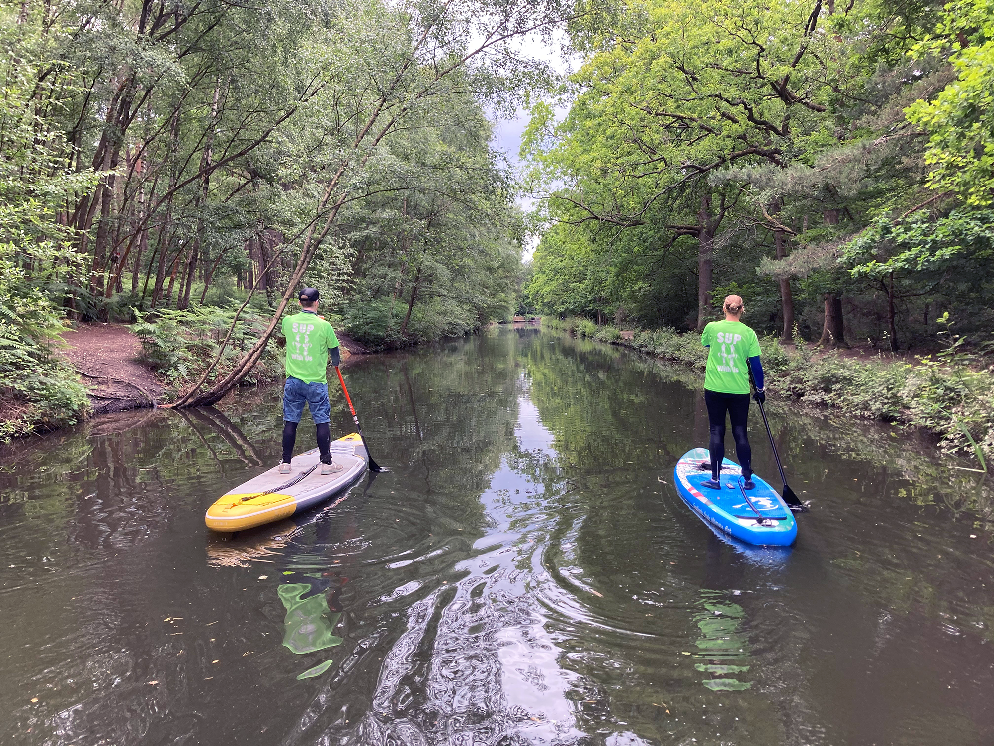 SUP Tour of Basingstoke Canal