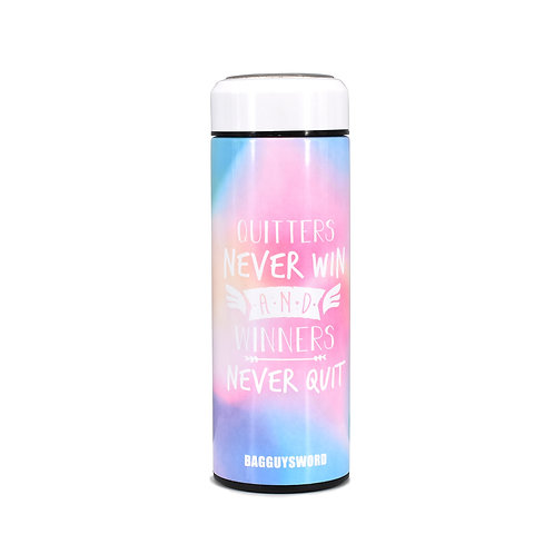 """""""Quitters never win and winners never quit""""保溫瓶訂製(450ml)"""