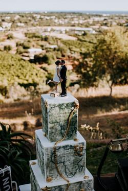 Old World Travel Wedding Cake