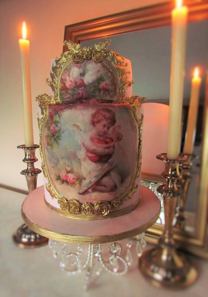 Beautiful Rococo Wedding Cake