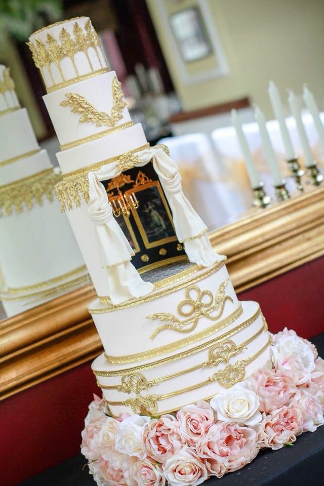 Abandoned Ballroom Wedding Cake