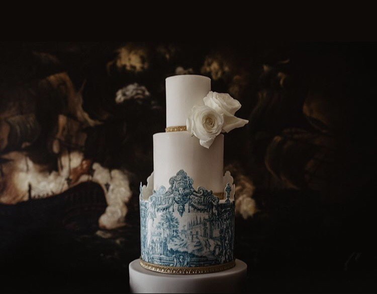 Portuguese Tiles Wedding Cake - Azulejos