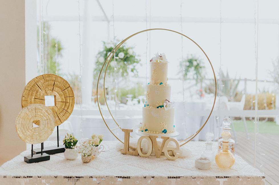 Beach Theme Wedding Cake