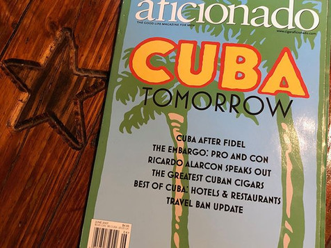 A magazine cover that speaks a 1,000 words.  The beginning for Habana Cowboy and many Cuba conversations over cigars.