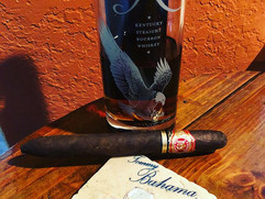 Tommy Bahama living; sipping Eagle Rare Manhattans today at Habana Cowboy.  A big bold cigar requires an elegant companion.