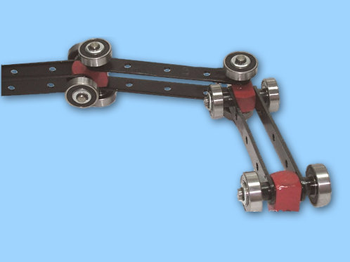 Cadena para transporte aéreo con rodamientos para alta temperatura