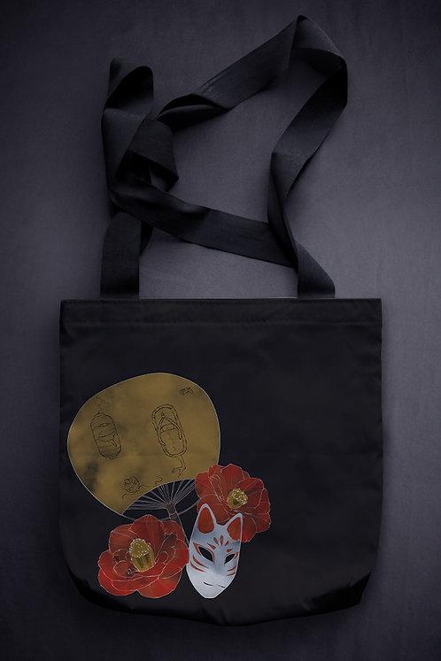 'fox mask' canvas bag