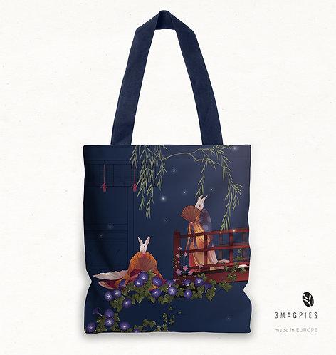 'firefly dusk' canvas bag