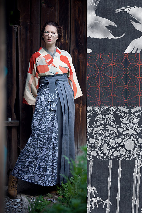 Denim hakama (many colors available)