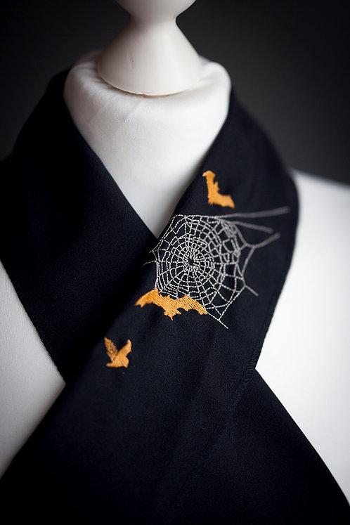 Embroidered haneri 'spiderweb'