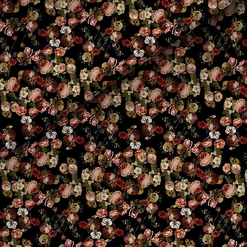 fabric - glass&roses pattern
