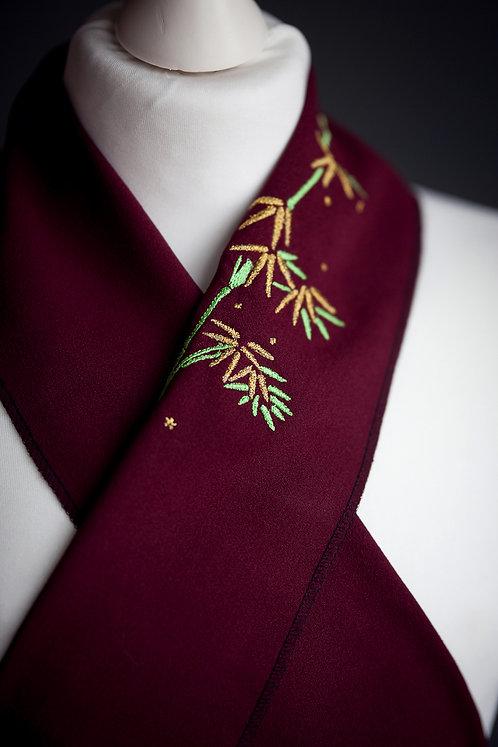 Embroidered haneri 'bamboo'