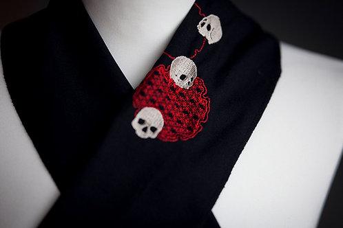 Embroidered haneri 'skulls'