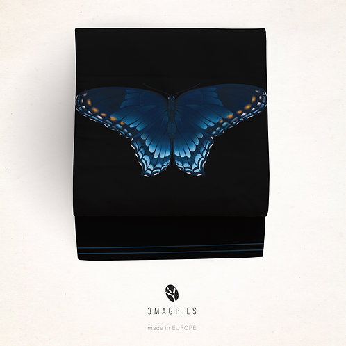 Nagoya/kyobukuro obi 'blue butterfly'