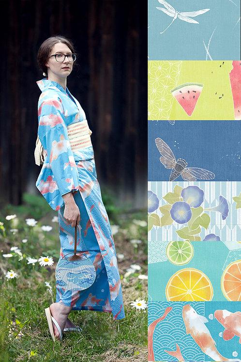 Printed Yukata (many colors available)