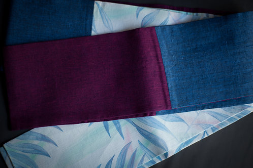 linen patchwork hanhaba obi