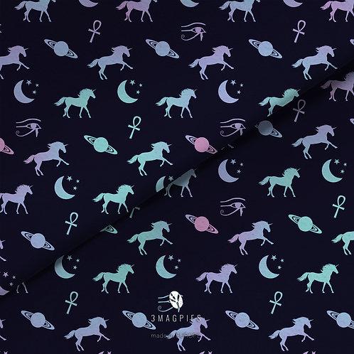 fabric -rainbow unicorns