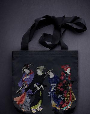 'modern bijin-ga' canvas bag