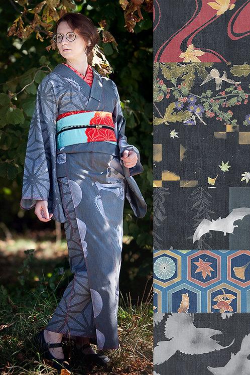 Hitoe denim kimono (many colors available)