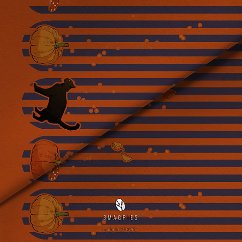fabric - halloween border print