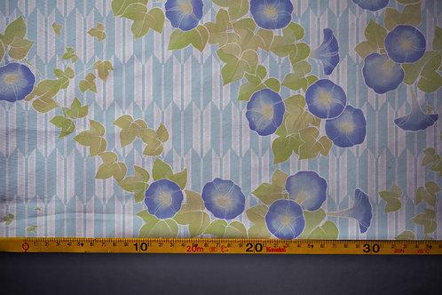 Printed denim / shirt fabric 'asagao'
