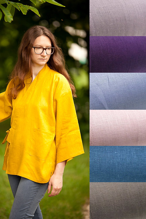 Linen samue top (many colors available)