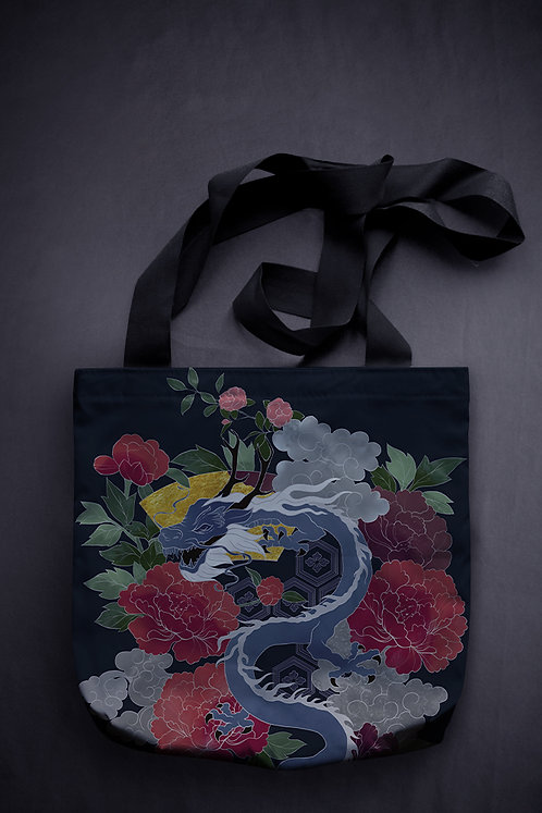 'dragon' canvas bag