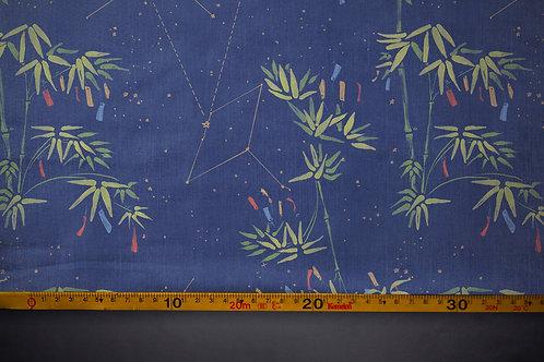 Printed denim / shirt fabric 'tanabata bamboo'