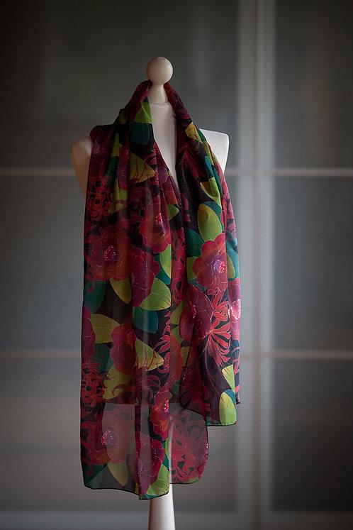 'tsubaki' chiffon scarf